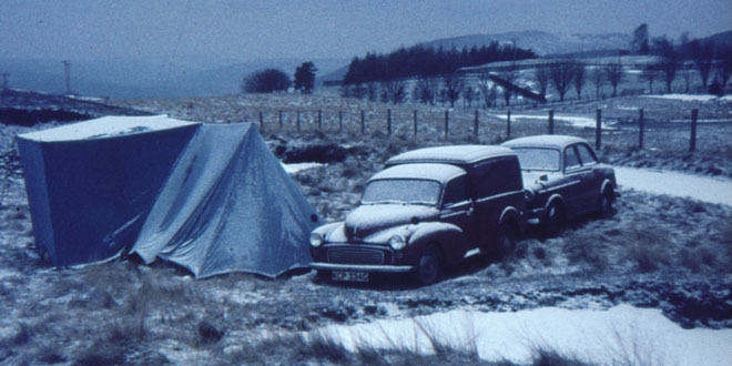 The camping force is so strong in the Elliss clan, my parents even went camping in the show - as you can see from this shot of them in Scotland, way before I was born.