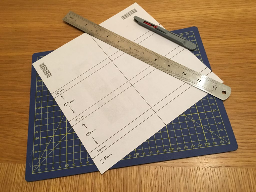 Use the paper to create your brick-placement template